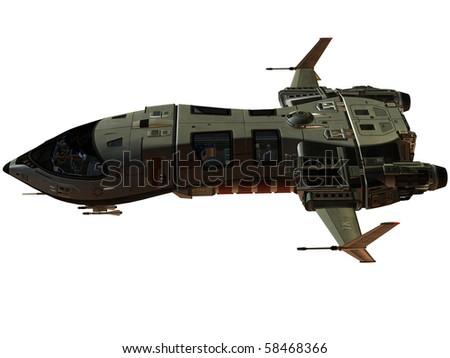 Futuristic Spaceship - stock photo