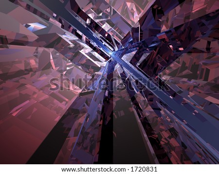 Futuristic spacey background (part of a family of similar designs) - stock photo
