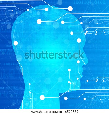 Futuristic technology background - stock photo