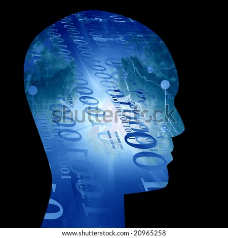 Futuristic technology background on a dark background - stock photo