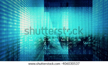 Futuristic technology digital light abstraction. - stock photo