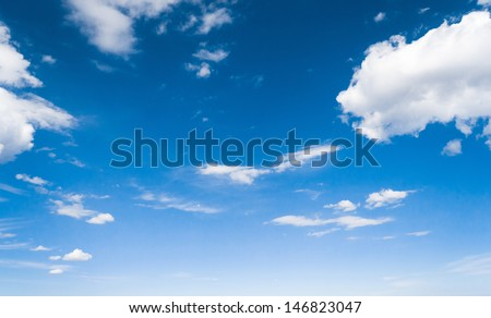 Fuzzy Air Summer Heavens  - stock photo