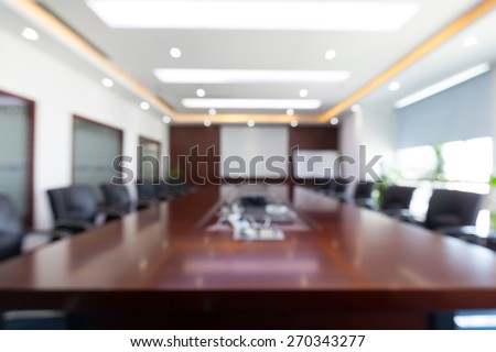 Fuzzy conference room - stock photo