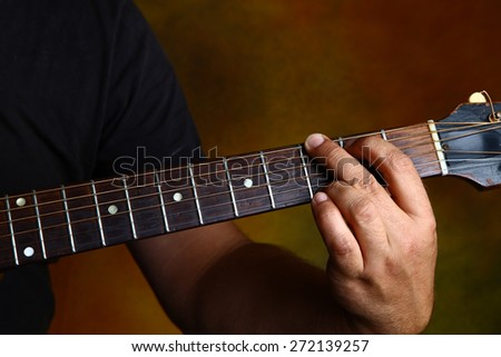 G major chord for guitar - stock photo