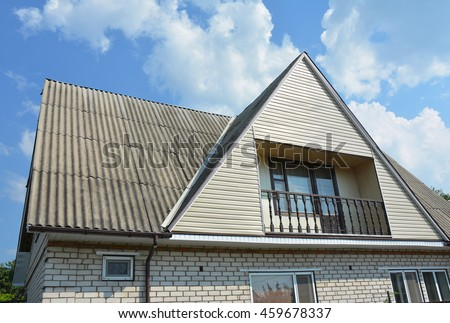 gable house roof stock photos images pictures