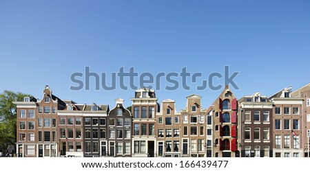 Gables in Amsterdam, The Netherlands,  - stock photo