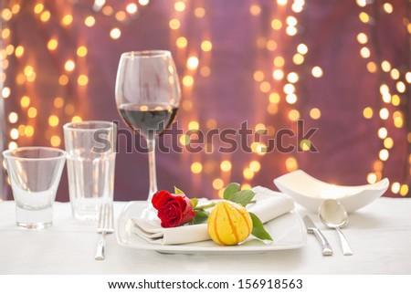 gala tableware - stock photo