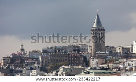 Galata tower, istanbul - stock photo