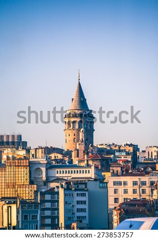 Galata Tower, Istanbul, Turkey  - stock photo
