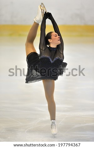 Galati, Romania - October 24: Unknown skater competing in the event ''Cristal skate'' of Romania, on October 24, 2013 in Galati, Romania - stock photo