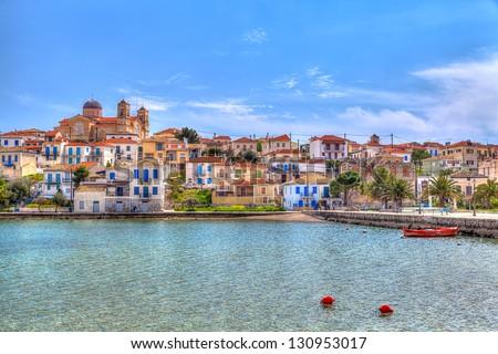 Galaxidi town, Greece - stock photo