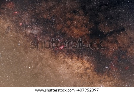 Galaxies near our world the most. Can be seen with the naked eye. In good weather, the night sky. - stock photo