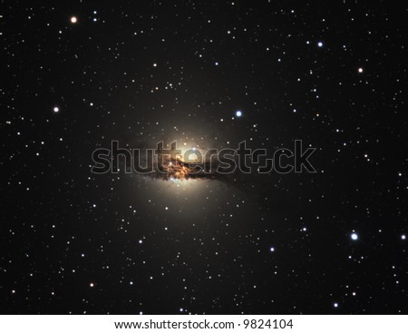 Galaxy centaurus A - stock photo