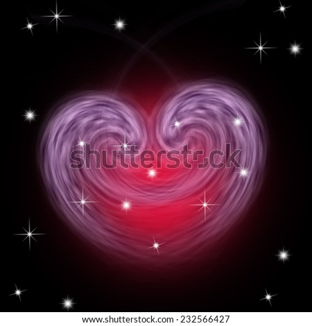 Galaxy in space - stock photo