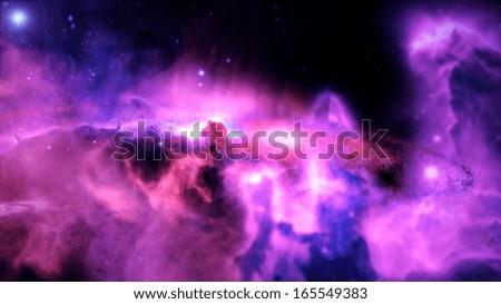 Galaxy, Nebula, Stars, Black Hole, Space, Life Origin - stock photo