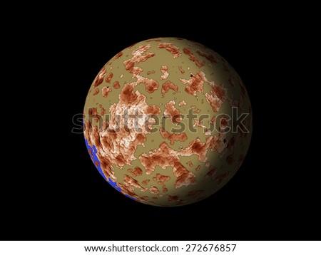 Galaxy planet - stock photo