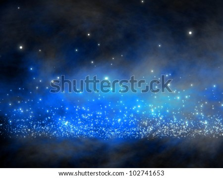 galaxy with lot of stars  / galaxy space - stock photo