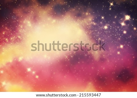 Galaxy with stars and fantasy universe space. Also perfect for night sky background. - stock photo