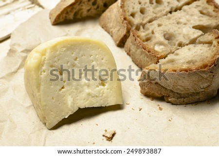 Galician cheese - stock photo