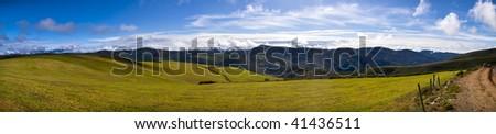 galician landscape. os ancares, lugo - stock photo
