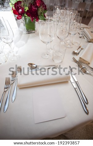 galleries with classic equipment for banqueting and catering - stock photo