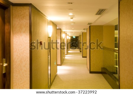 Gallery in the hotel,nobody - stock photo