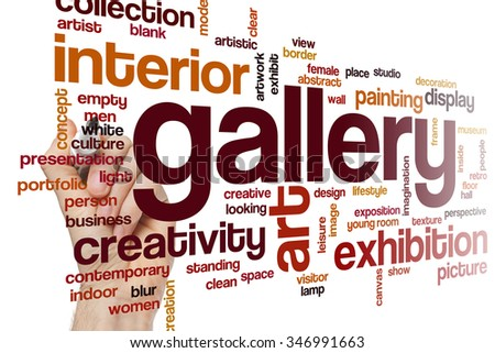 Gallery word cloud - stock photo