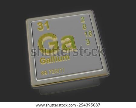 Gallium. Chemical element. 3d - stock photo