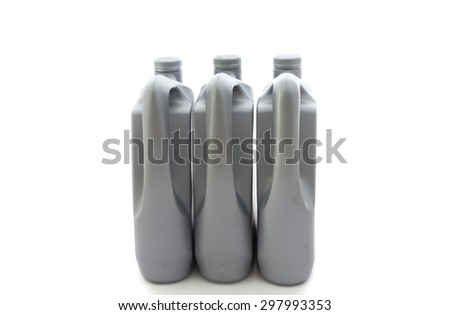 Gallon oil isolated on white background - stock photo