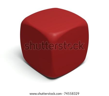 Gambling dice with blank faces to put on any symbol or glyph - stock photo