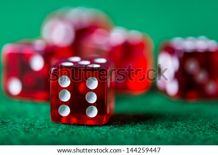 Gambling game, dices - stock photo