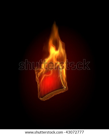 Gambling illustration with burning diamonds on black background. - stock photo
