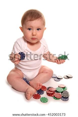 Gambling on next generations future cutout - stock photo