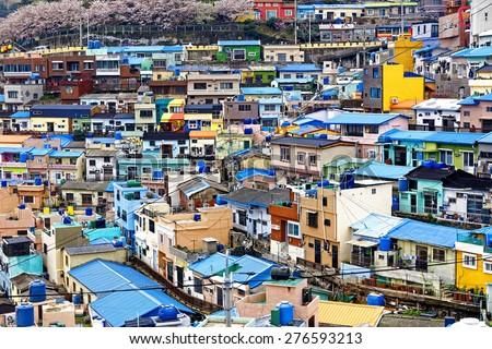 Gamcheon Culture Village, Busan, South Korea. - stock photo