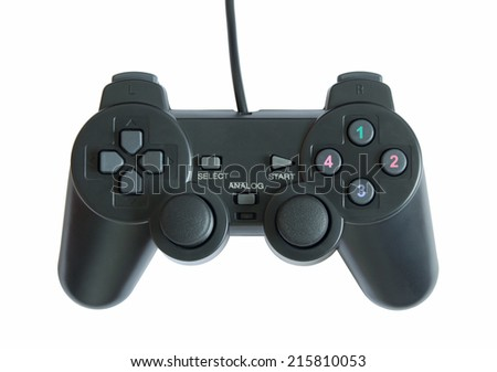 game controller isolated on white background with clipping path - stock photo