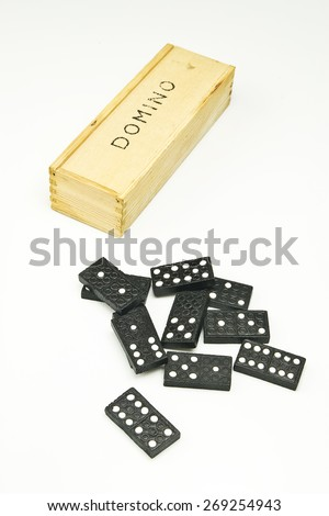 Game of dominos - stock photo