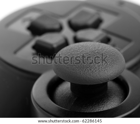 game-pad extreme closeup - stock photo
