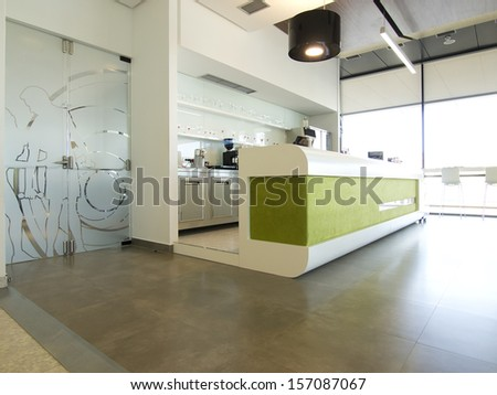 Game room and cafe bar interior - stock photo