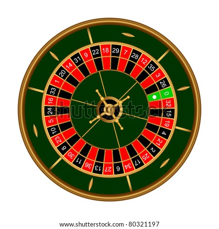 Game roulette on a white background.EPS version is available as ID 74216677. - stock photo