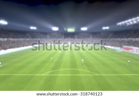 game start soccer blurred image background, big match never die  - stock photo