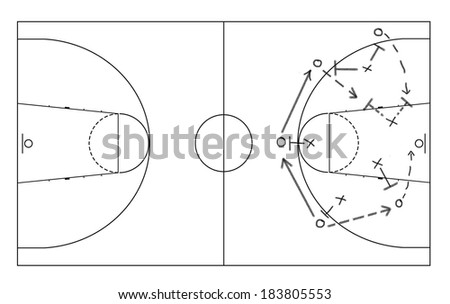 Game strategy drawn with board marker on whiteboard. - stock photo