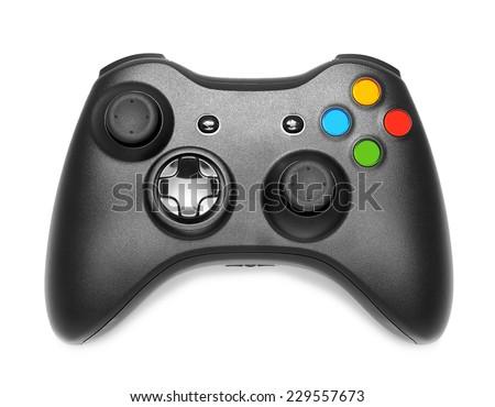 Gamepad on white background isolated - stock photo