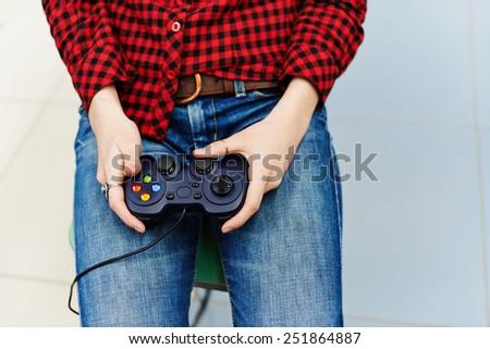 gamer console - stock photo