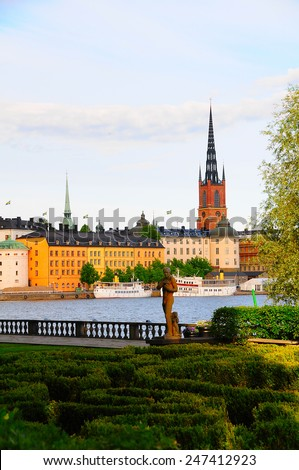 Gamla Stan Old town Stockholm City Sweden - stock photo