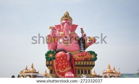 Ganesh hindu religious - stock photo