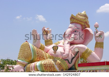 Ganesh in Nakornnayok province of Thailand. - stock photo