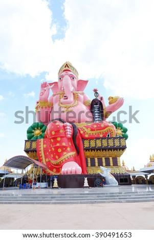 Ganesh, the Hindu deity of public respect  - stock photo