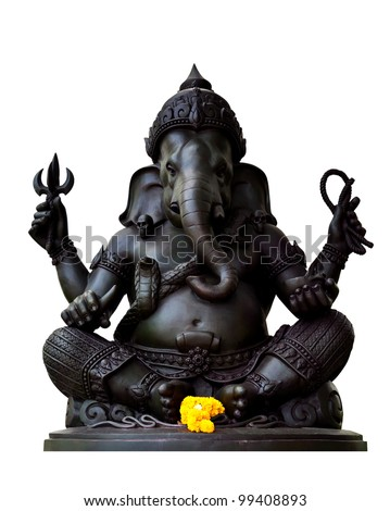 Ganesha, God of Hindu - stock photo
