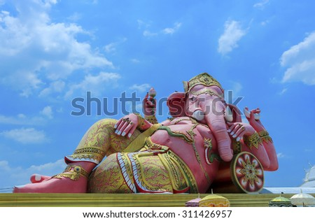 Ganesha, This statue is located in public Thailand - stock photo