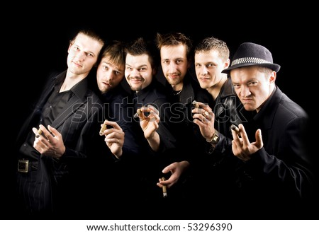 gangster family - stock photo